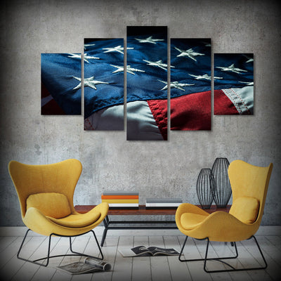 American Flag - 5 Piece Painting