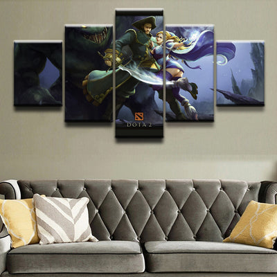 DOTA 2: Crystal Maiden and Kunkka - 5 Piece Painting
