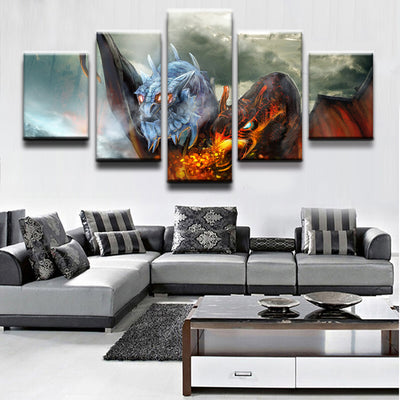 DOTA 2: Jakiro The Twin Head Dragon - 5 Piece Painting