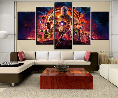 Avengers Infinity War Movie - 5 Piece Painting