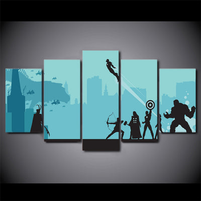Avengers Marvel Comic - 5 Piece Painting