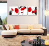 Beautiful Red Poppies Flower - 3 Piece Painting