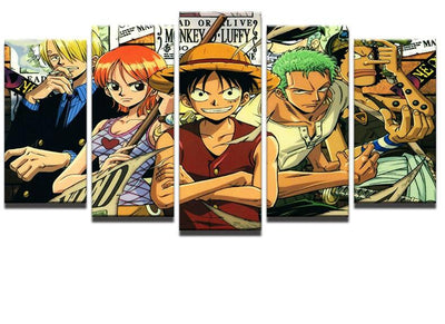 One Piece Characters - 5 Piece Painting