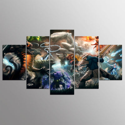 DOTA 2 Characters - 5 Piece Painting