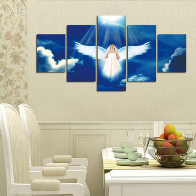 Angel in a Blue Sky - 5 Piece Painting