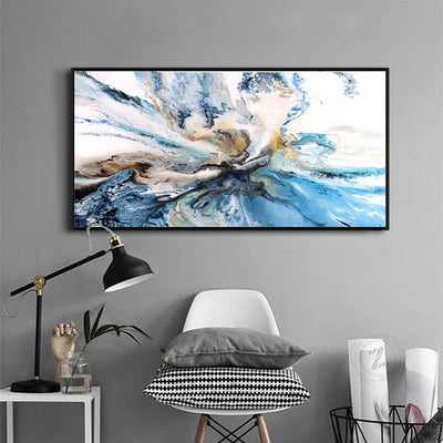 Colorful Ocean Abstract Canvas Painting