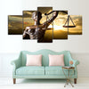 Themis, Goddess of Justice - 5 Pc Canvas Painting