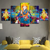 Hindu Goddess Ganesha - 5 Piece Canvas Painting
