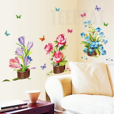 Potted Flower Wall Stickers