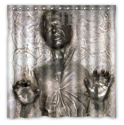 Star Wars: Han Solo in Carbonite Shower Curtain-TEEPEAT