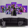 Fortnite -  Battle Royale Characters 5 Piece Canvas