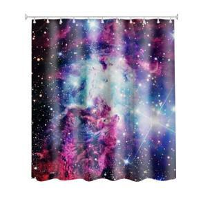 TEEPEAT 01 Colorful Space Shower Curtain