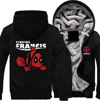 TEEPEAT 4 / S Deadpool Finding Francis Fleece Hoodie