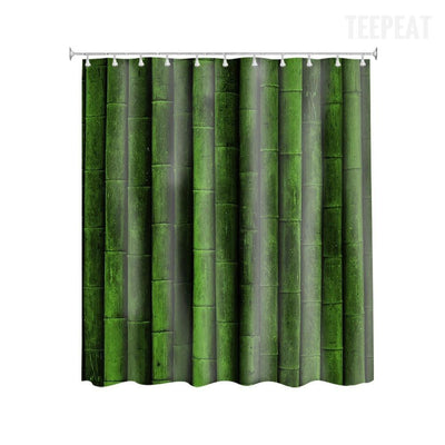 TEEPEAT Bamboo Design Shower Curtain