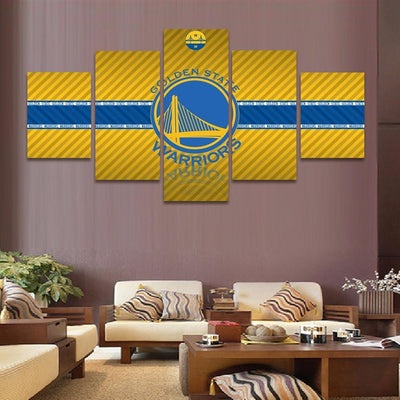 TEEPEAT Canvas 2017 Golden State Warriors - 5 Piece Canvas Painting