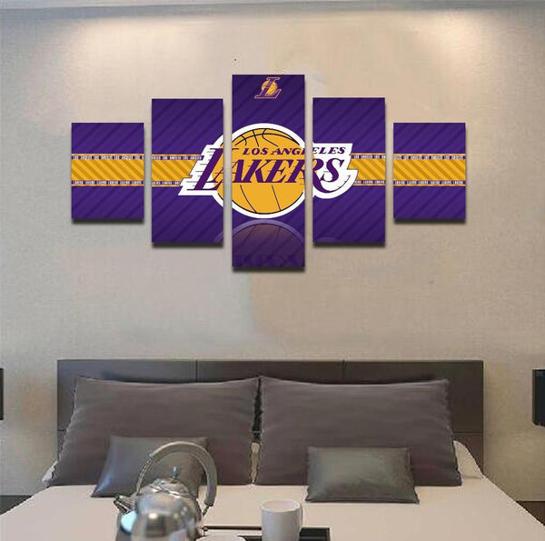 2017 Lakers Banner 5 Piece Canvas Painting Empire Prints