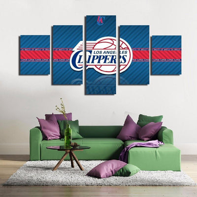 TEEPEAT Canvas 2017 Los Angeles Clippers - 5 Piece Canvas Painting