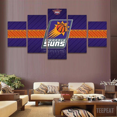 TEEPEAT Canvas 2017 Phoenix Suns Banner - 5 Piece Canvas Painting