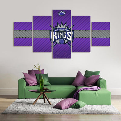 TEEPEAT Canvas 2017 Sacramento Kings Banner - 5 Piece Canvas Painting