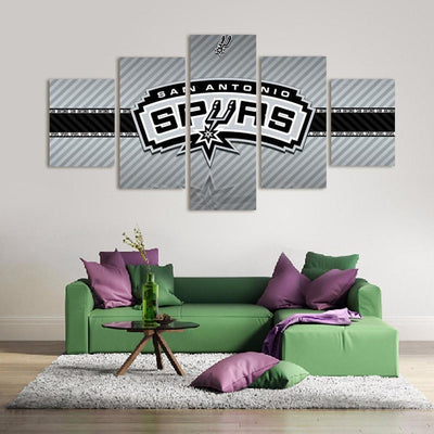 TEEPEAT Canvas 2017 San Antonio Spurs Banner - 5 Piece Canvas Painting