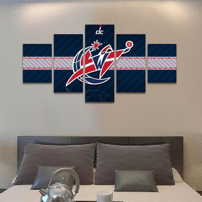 TEEPEAT Canvas 2017 Washington Wizards Banner - 5 Piece Canvas Painting
