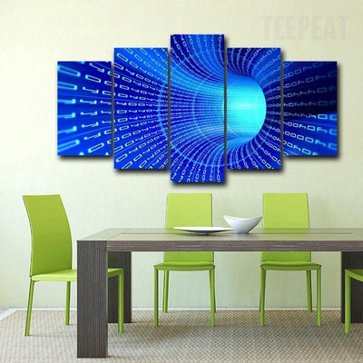 TEEPEAT Canvas 3D Stereo Science Fiction - 5 Piece Canvas