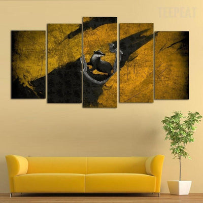 TEEPEAT Canvas Abstract Animal Scenery - 5 Piece Canvas