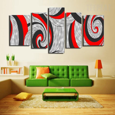 TEEPEAT Canvas Abstract Lines Cuadros - 5 Piece Canvas