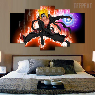 TEEPEAT Canvas Akatsuki - Naruto - 5 Piece Canvas Painting