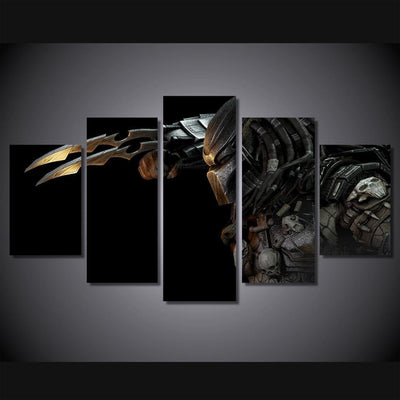 TEEPEAT Canvas Alien Vs. Predator Painting - 5 Piece Canvas