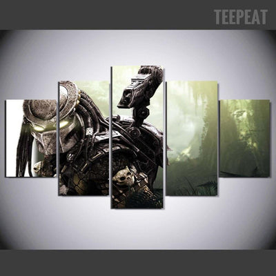 TEEPEAT Canvas Alien vs. Predator V2 Painting - 5 Piece Canvas