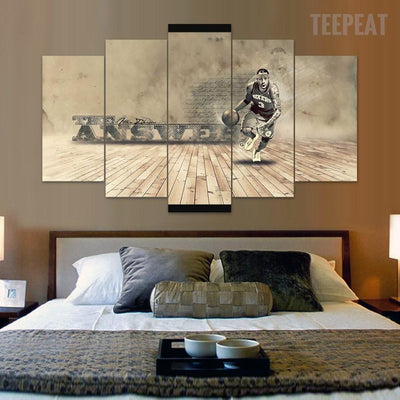 "TEEPEAT Canvas Allen Iverson ""The Answer"" - 5 Piece Canvas Painting"