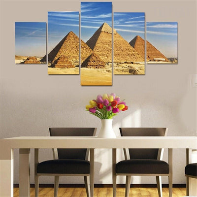TEEPEAT Canvas Ancient Egyptian Pyramids - 5 Piece Canvas