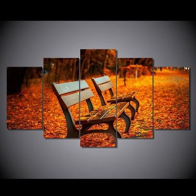 TEEPEAT Canvas Autumn Bench - 5 piece canvas