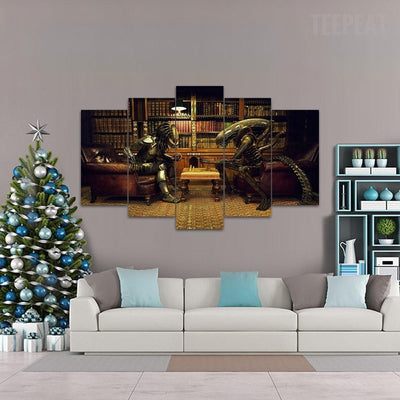 "TEEPEAT Canvas AVP ""It's a Chess Game""  - 5 Piece Canvas Painting"