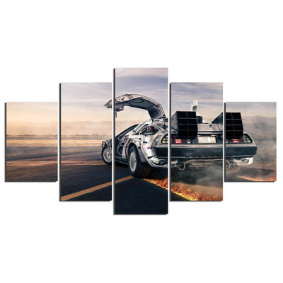 TEEPEAT Canvas Back To The Future - 5 Piece Canvas Painting