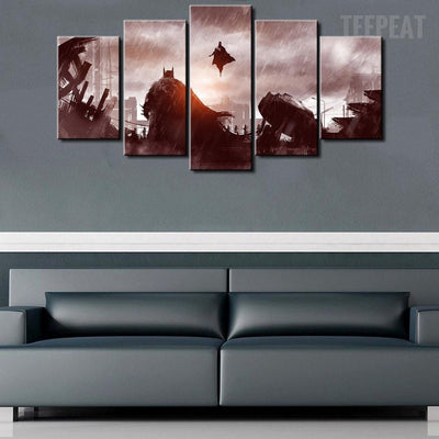 TEEPEAT Canvas Batman Vs Superman - 5 Piece Canvas Painting