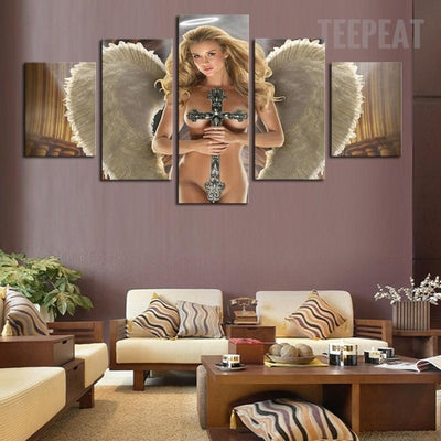 TEEPEAT Canvas Beautiful Angel - 5 Piece Canvas