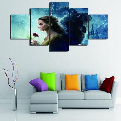 TEEPEAT Canvas Beauty and the Beast - 5 piece canvas