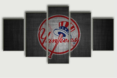 TEEPEAT Canvas Black Friday Sale Painting - New York Yankees Five Piece Canvas