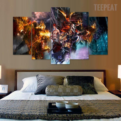 TEEPEAT Canvas Bleach  - 5 Piece Canvas Painting
