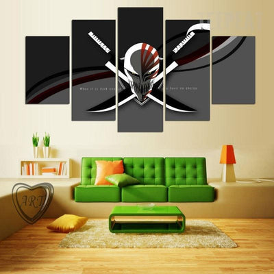TEEPEAT Canvas Bleach Skull Painting - 5 Piece Canvas