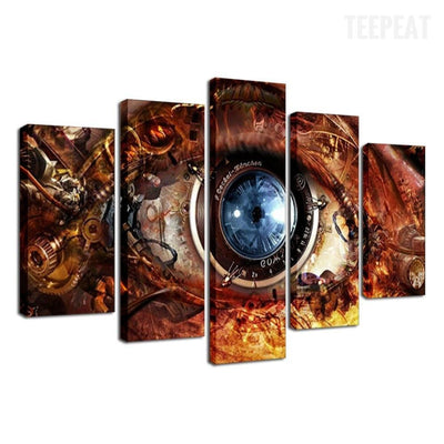 TEEPEAT Canvas Blue Eyes - 5 Piece Canvas
