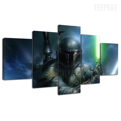 TEEPEAT Canvas Boba Fett Of Star Wars - 5 Piece Canvas