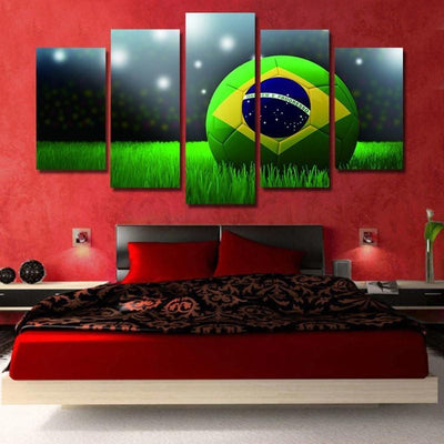 TEEPEAT Canvas Brazil World Cup - 5 piece canvas
