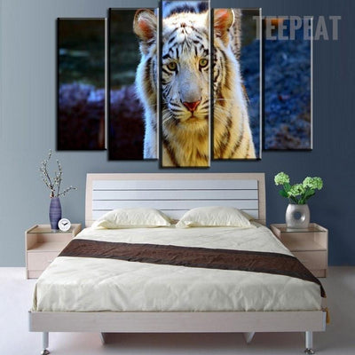 TEEPEAT Canvas Bright Plumage Tiger - 5 Piece Canvas