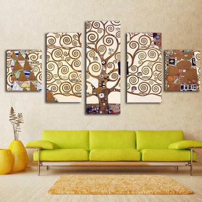 TEEPEAT Canvas Brown Tree Branches Cuadros - 5 Piece Canvas