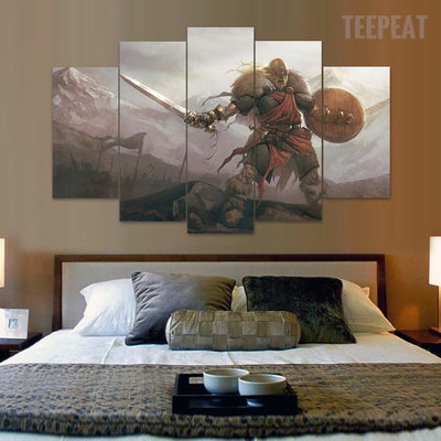 TEEPEAT Canvas Brutal Times - 5 Piece Canvas Painting