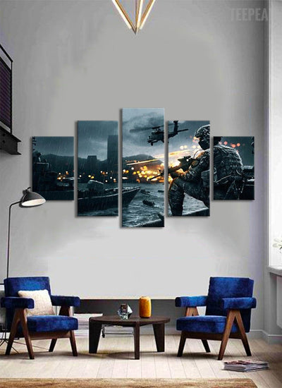 TEEPEAT Canvas Call of Duty : Modern Warfare - 5 piece canvas