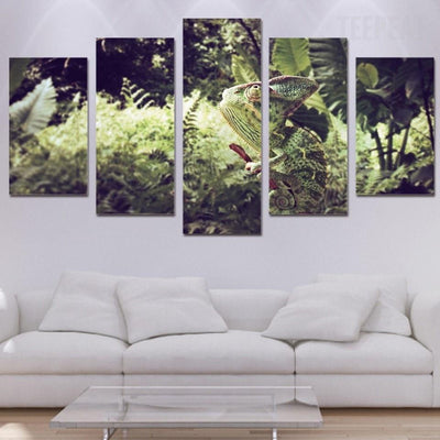 TEEPEAT Canvas Camouflage Chameleon - 5 piece canvas